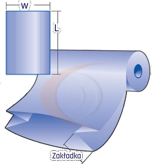 Folia w rolkach z zakładkami